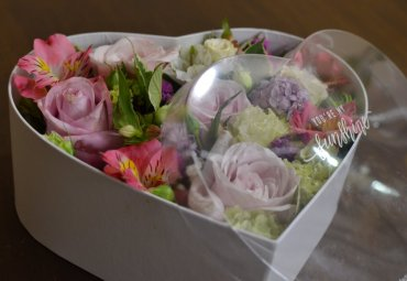 Flower box cuore